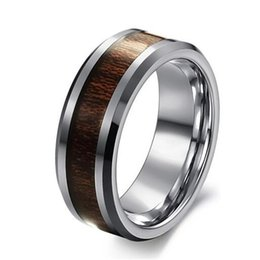 Wholesale Tungsten Bridal Ring Set - 2016 Hot Sale in Brasil 8MM Mens Tungsten Carbide Wedding Engagement Band Ring Comfort Fit Big SZ 7-11 Alliance Bridal Jewelry TU003R