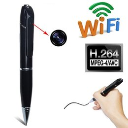 Wholesale Cameras Audio - HD 720P WIFI Spy Pen Camera Wireless Hidden DVR Digital Audio Video Recorder Pen Camcorder Streaming Covert Baby Monitor