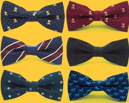 Wholesale Self Tie - Fashion Bowtie Boys Adjustable Self Tie Bow Ties For Kids Boy Toddler Neck Bowtie Shirt Banquet Tie multi-style