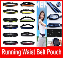 Wholesale For iPhone S Fashion Running bags Outdoor Sports Women Men Unisex Running Bag Travel Close Burglar Riding pockets one two Waist Belt Bags