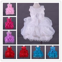 Wholesale Rose Tank Dress - Wholesale-2016 Princess Flower Girl Dresses For Wedding Patry Brand Rose Lace Tutus Little Baby Girls Tank Dress White Children's