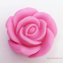 Canada 3D Rose Savon Silicone Moule Silica Gel Moule Silicium Bougie Moules Décorer Moule En Gros AX020 Offre