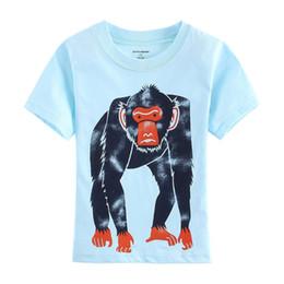 Wholesale Short Gorilla Neck - Apes T-Shirts Boys Blue Monkey Jersey Gorilla Fashion Children T Shirt Outfits Summer 2016 Kids tee shirts top garment