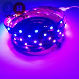 Tira de led ws2811 negro online-1M WS2811 LED Strip Negro PCB 5050 RGB LED Strip Light 30LED / M WS2811 Stripable Direccionable Direccionable led