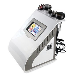 Wholesale Bipolar Rf Skin Care - 5 in 1 Ultrasonic Cavitation RF Slimming Machine Bipolar Tripolar Four Polar Six Polar RF With Strong Vacuum For Skin Care Weight Loss