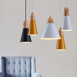 Wholesale Lamparas Colgantes Vintage - Vintage Pendant Lights Aluminum Lampshade Lamparas Colgantes For Living Room Pendant Lamp Home Lighting Light Fixtures