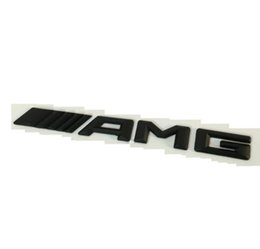 "Wholesale Mercedes Amg Emblems - Matt Black ""     AMG "" Letters Words Trunk Badge Emblem Decal Sticker for Mercedes Benz AMG"