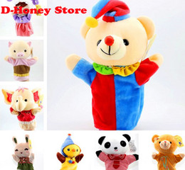 Wholesale Talking Hand Puppets For Kids - New Funny Baby talking Toys hand puppet for sale Baby Children Kid Animal Hand Glove Puppets Toy Plush Learning Story