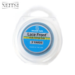 Wholesale Double Sided Glue - New Arrival Neitsi 1.9cm Double Sided 3 Yards Lace Front Support Tape Roll- Blue# USA Walker Adhesives Super Glue Tape For Hair Extensions