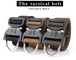 Wholesale Off Hook - Wholesale 3.8cm US Army Tactialcal Combat Belt SWAT Heavy Duty Knock Off Tactical Belt Hook Nylon Waist Belt Drop Shipping