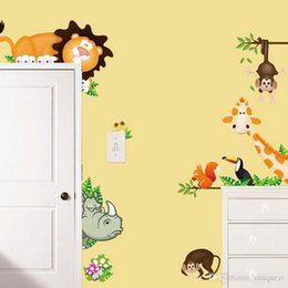 Wholesale Monkey Removable Wall Decals - Monkey Animals Removable Wall Decal Stickers For Baby Nursery Room Decor Kids