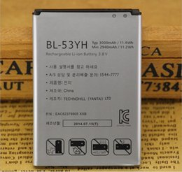 Wholesale G2 Phone Battery - free shiiping Bl-54SG Mobile phone battery For Lg Battery Optimus Vu3 G2 F320s F320k F320l F300 F260 F7 Bl-54sh for Lg Phone Battery