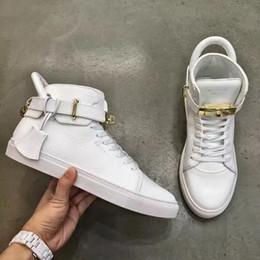 Wholesale Denim Wedges Sneaker - Original Box - Increased Wedges 950 Men Sneaker Boost Shoes Gold Lock Logo Ankle Boot High Top Women 750 Leisure Flats Sneakers
