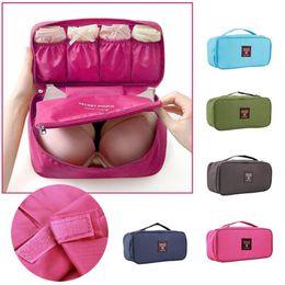 Wholesale Travel Bras Zippers - Bra Underwear Lingerie Travel Bag for Women Organizer Trip Handbag Luggage Traveling Bag Pouch Case Suitcase Space Saver Bag