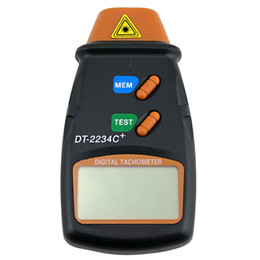 Wholesale Digital Laser Measuring - Wholesale-Non-contact Laser Photoelectric Digital Tachometer DT2234C+ Speed measuring instrument