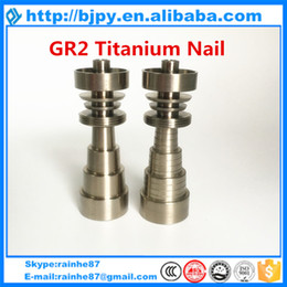 Wholesale Types Crimping Tools - (wholesale best price) two types of titanium domeless nail 14mm female or male gr2 pure titanium nail