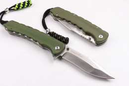 Wholesale Army Tools - wild boar SZ001A D2 60-62HRC CNC army green G10 SZ001A Tactical Hunting Knife Multi Tools Pocket Survival Fixed Knives gift knife 1pcs