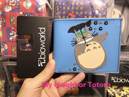 Wholesale Boys Leather Shorts - 2017 Anime My Neighbor Totoro Wallet Girls Boys Billfold Short Leather Purse Slim Money Bag Student Wallets