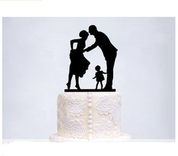 Wholesale Wholesale End Tables - Wedding Party Cake Acrylic Topper High-End Double Sugar Cake Wedding Card Romantic Wedding Cake Birthday Cake Decoration