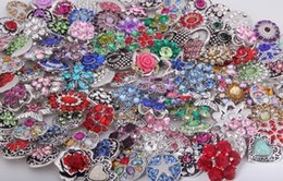 Wholesale Button Element - 2016 Vocheng Noosa 18mm Mix Sales Crystal Ginger Snap Buttons Charms Jewelry Rhinestone Buttons Free Shipping E561L