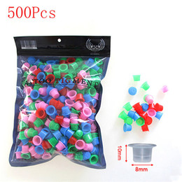 Wholesale tattoo ink cap sizes - 500pcs Plastic 11mm Clear Medium Size Permanent Makeup Tattoo Ink Cups Pigment Caps Tattoo Accessories Supply Free Shipping