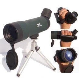 Wholesale Night Spot - Wholesale-Free shipping HD Monocular Outdoor Telescope With Portable Tripod Night Version Spotting Scope 20x50 Zoom HW2050