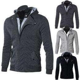 Wholesale Dresses Long Layers - Wholesale-Hot Men's Casual Hoodie Dress Shirts Autumn Winter Warm Cotton Jacket Shirt Male Brand Clothes Mens Long Sleeve Sweatshirt 3XL