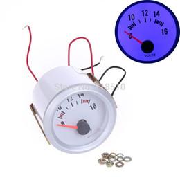 """Wholesale Led Car Voltage Gauge - Voltage Meter Gauge Voltmeter for Auto Car 2"""" 52mm 8~16V Blue LED Light order<$18no track"""