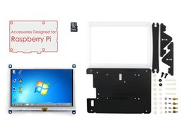 Wholesale Card Display Cases - Wholesale-Raspberry Pi Display 5 inch HDMI LCD 800*480 Touch Screen Support Various Systems+Bicolor Case+8GB Micro SD Card=RPi Acce E