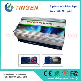 Wholesale Grid Tie Inverter Ac - With dump load controlling system power 48v wind generator 1500w,ac to ac wind grid tie inverter