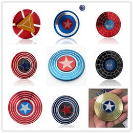 avec boîte ronde métal Avengers Fidget Spinner Supoer héros Captain America Spiderman Super homme Iron Man main jouet gyro ? partir de fabricateur