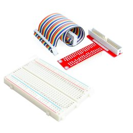 Wholesale Pi Adapters - Wholesale-Raspberry Pi 3&Raspberry Pi 2 Model B T cobbler, expansion DIY kit (GPIO cable + breadboard + GPIO T-adapter plate)