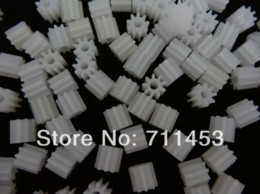 Wholesale Electric Motors Gear Drive - 30pcs Spindle Gear 9T 1.9mm hole M0.5 Motor Gear Robot Model Accessories Four-wheel Drive Plastic Gear