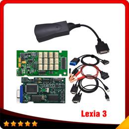Wholesale Lexia Diagnostic - Latest Code Scanner lexia 3 Citroen Peugeot professional lexia 3 diagnostic tool lexia-3 Multi-langauge free shipping