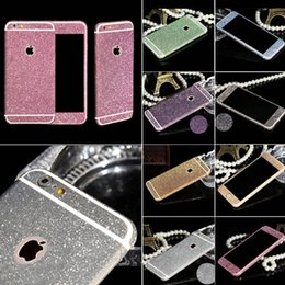 Wholesale Glitter Stickers For Phones - Shiny Full Body Glitter for iPhone 6 6S 4.7 Inch Phone Sticker Matte Screen Protector Mobile Phone Accessories