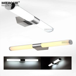 Wholesale Dressing Mirror Cabinet - Contemporary LED 20W Wall light White Acrylic Mirror lighting fitting LED Cabinet wall lamp for dressing room L800mm wall lustre