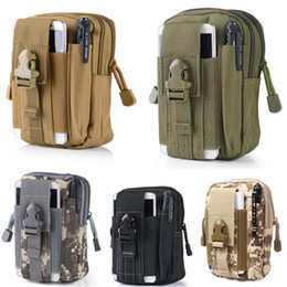 Wholesale Camo Duffel Bag - Free DHL Multipurpose Capacity Oversize EDC Pouch Utility 5 Colors Camo Bag Military Nylon Tactical Waist Pack Joging Bag E595E