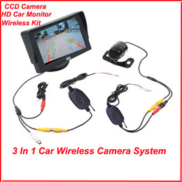 """Wholesale Car Wireless Reversing Cameras - Wholesale-Factory Promotion 4.3"""" TFT LCD Monitor Car Rear View Kit + Wireless Reversing Camera Waterproof 170 Degree Free Shipping"""