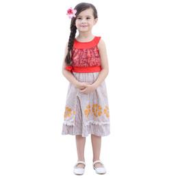 Kleines mädchen cosplay kostüme online-Mädchen Marine Kleid Sets Cosplay Kostüm Little Adventures Polynesian Princess Dress Up Kostüm Top Tank + Rock Halloween Kleidung HH7-126