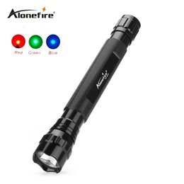 Wholesale green tactical light - 501D Tactical Flashlight Torch Hunting LED Flashlight Torch Lamp Red blue green light tactical flashlight lamp
