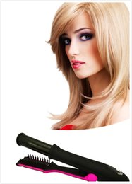 Wholesale Flat Iron Settings - Steam Hair Straighteners Comb Top Hair Flat Iron Curling Iron Wand Set