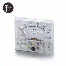 Wholesale Voltmeter Gauge Digital - Wholesale-1 PCS 85C1-V DCDC0--50V Analog Voltmeter Tester Meaurement Tools Voltmeter Pressure Gauge