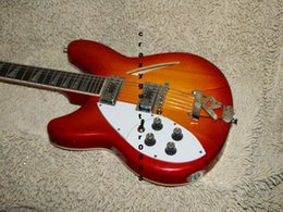 Wholesale Left Hand Semi Guitar - Left Handed Cherry 12 Strings 325 330 Electric Guitar High Quality OEM Cheap
