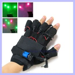 Wholesale Laser Dancing Lights - 1 pair Christmas gift 532nm 100mw Violet Blue Laser Gloves dancing stage show light for DJ  Party show led glove party supplies