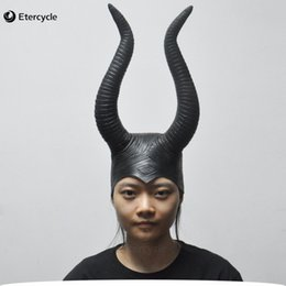Wholesale Half Movies - Maleficent Angelina Masks Women &#039 ;S Movie Cosplay Props Halloween Scary Latex Mask