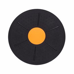 Wholesale waist twisting disc - Wholesale- Fofar Fitness Wobble Balance Board Exercise Stability Disc Yoga Training fitness Exercise Waist Wriggling Round plate Game