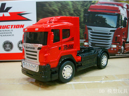 Wholesale Red Fiberglass - Wholesale- High Quality road race Remote control truck large container simulation RC truck series tractors toys gifts random color