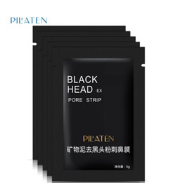 Wholesale Blackhead Remover Pore Strips - Pilaten Facial Black Mask Face Care Nose Acne Blackhead Remover Minerals Pore Cleanser Mask Black Head Strip maquiagem