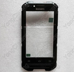 Wholesale Discovery Cellphone - panel room Discovery V6+ Touch Screen 100% Original Touch Screen Replacement Touch Panel For Discovery V6+ MTK6572 CellPhone +Track Number