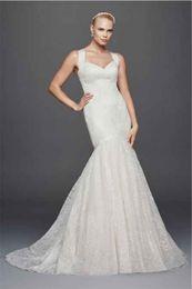 Wholesale Wide White Lace Ribbon - Spaghetti Straps Criss Cross Back Lace Wedding Dress ZP341638 Wide Grosgrain Ribbon Straps Open Back Bridal Dresses